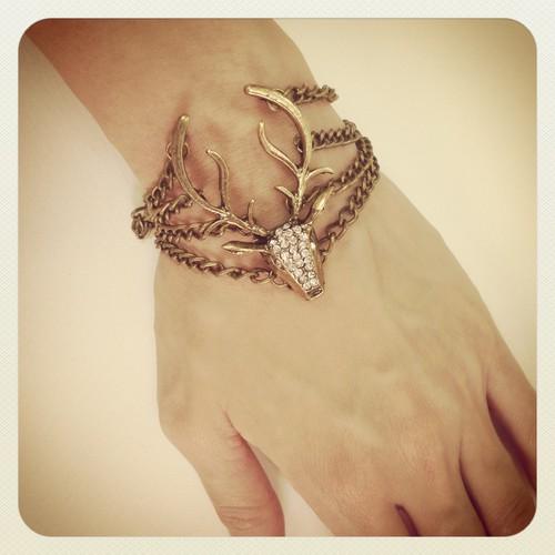 Antelope bracelet sparkly chains www.rachelmok.com