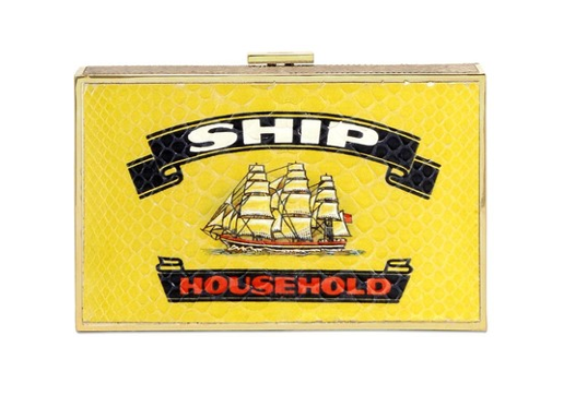Anya Hindmarch Imperial Ship Python Clutch www.luisaviaroma.com