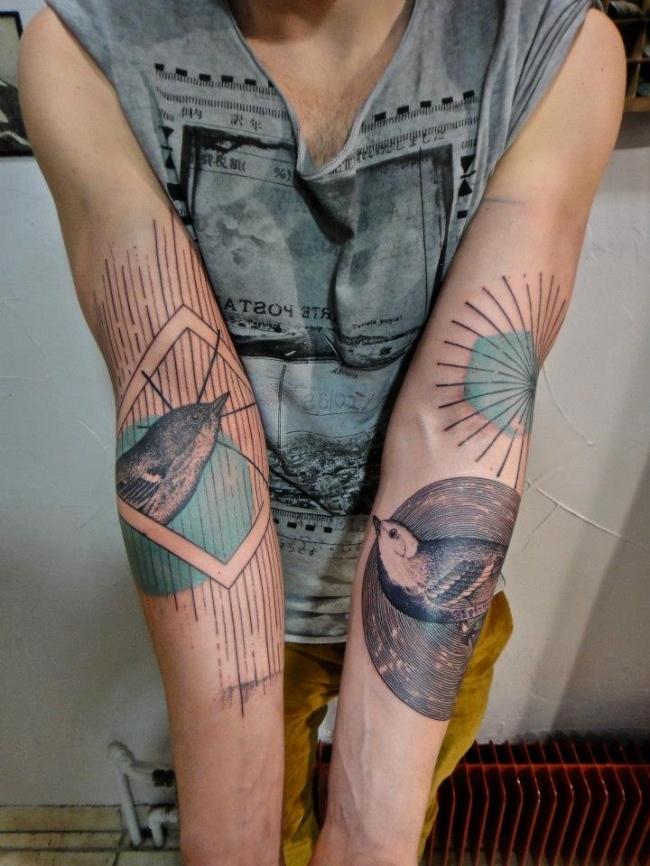 Xoil Tattoo Birds b/w green