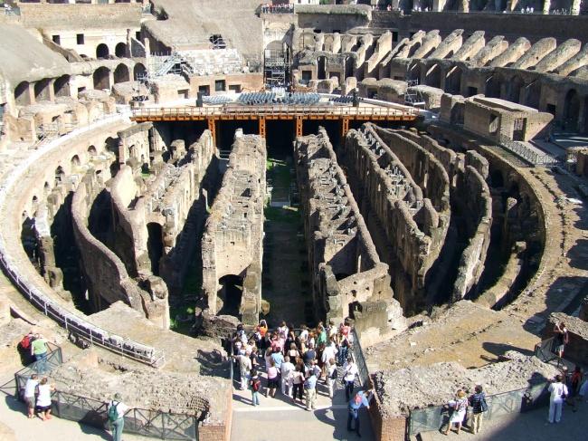 Colosseum Inside Italy Rome