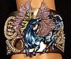 Pegasus jewels cuff gold www.weheartit.com