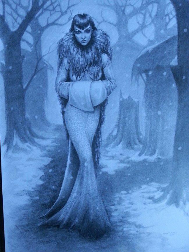 snow lady blue Mel Schwarz