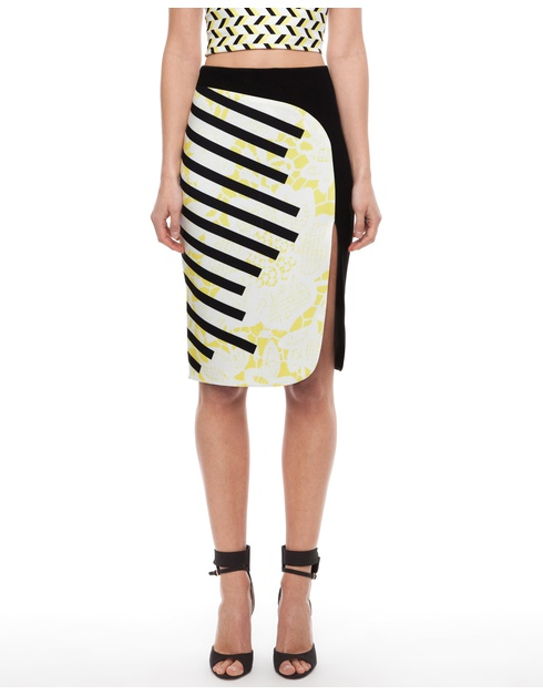 stripe strip skirt by-johnny now $175