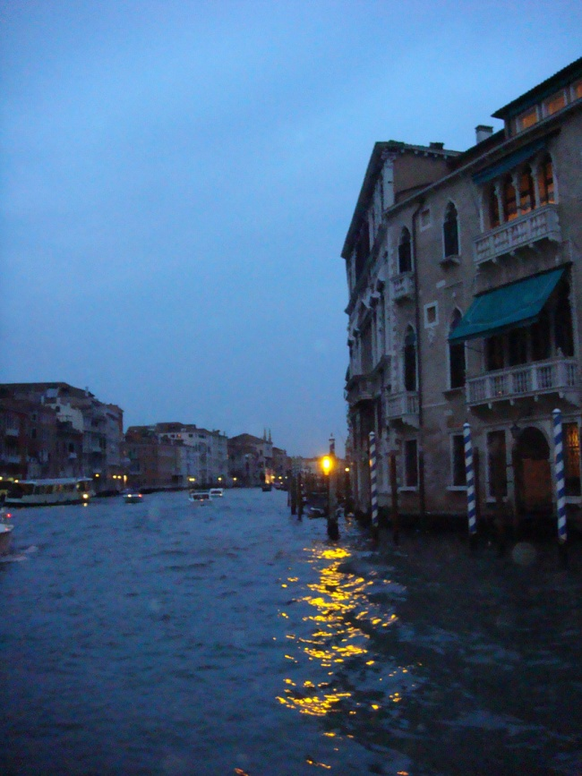 Venice night scene water Italy
