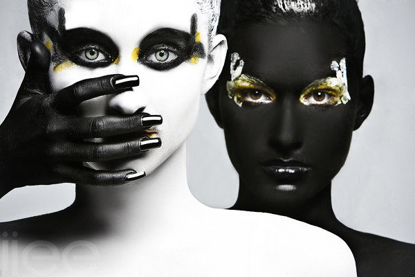 Daniil timofeev black white yellow fashion photography
