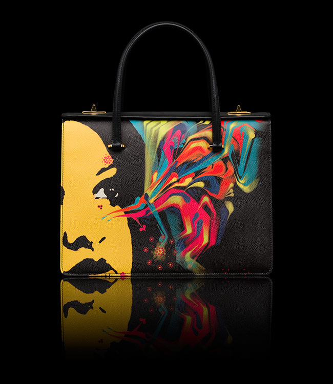Prada Saffiano Girl Print Bag - $ 3950.00