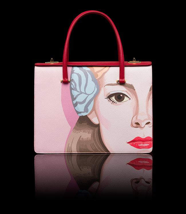 Prada Saffiano Girl Print Bag - $ 3950.00