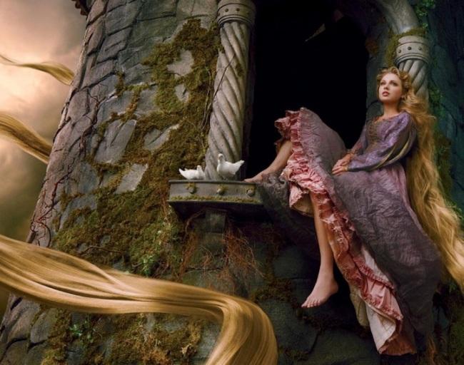 annieleibovitzdisneydreamportraits-taylor-swift-rapunzel
