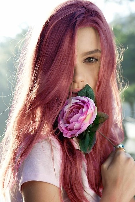 Pink-brown-hair