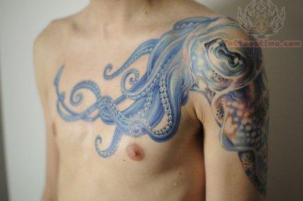 amazing-blue-ink-octopus-tattoo