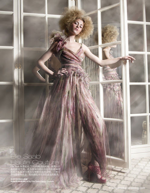 Harper's Bazaar China April 2011 Haute Couture Editorial Elie Saabmodel Marlena Szoka photographer Benjamin Kanarek 004