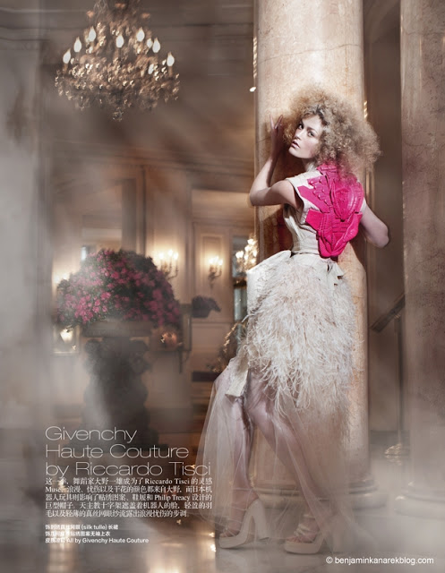 Harper's Bazaar China April 2011 Haute Couture Editorial Givenchy model Marlena Szoka photographer Benjamin Kanarek 007