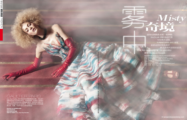 Harper's Bazaar China April 2011 Haute Couture Editorial model Marlena Szoka photographer Benjamin Kanarek 001