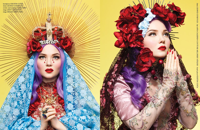 Leonid Gurevich_MADONNA_jason setiawan_doe deere_ANDY LIFSCHUTZ _GLASSbook_mdna_Anya Caliendo Couture Millinery Atelier_god_mother_virgin_faith_church_jesus_fashion editorial_couture_glossy