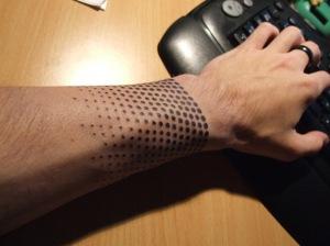 Cool-Half-Tone-Wrist-Tattoo