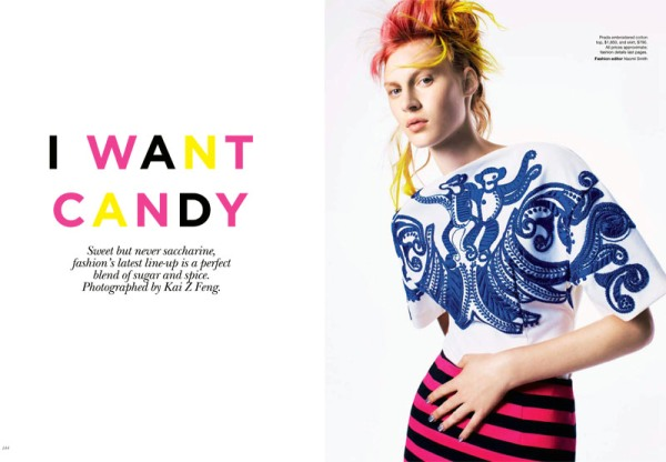 I want Candy Vogue Australia Fashion Editorial Love May 2011 Issue outfit inspiration photoshoot magazine 2