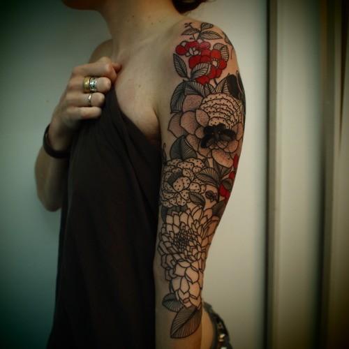 Flowers Tattoo Black Arm Tattoo Tattooed Tattoos: Floral Tattoo's.2