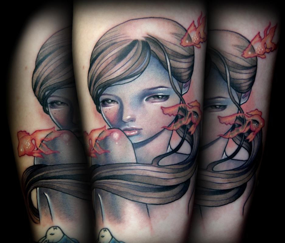 Tattoo: Audrey Kawasaki Tattoo's